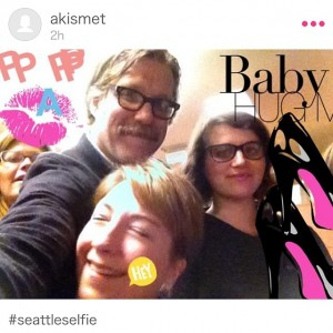 Post-panel selfie with John Roderick and Beth Buelow!