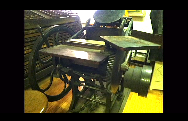 Here's the 120-year-old antique letterpress that Meekling wants to purchase. (all photos via the Kickstarter campaign)
