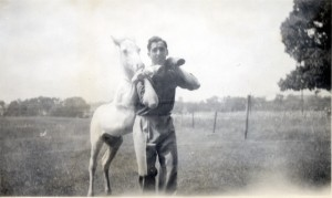 "Anonymous, ""Man and Horse"" (date unknown) from the collection of Marc Boone Fitzerman. (all images courtesy Marc Boone Fitzerman)"