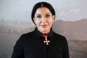 Marina Abramović with the Austrian Decoration for Science and Art (image via Wikimedia Commons)