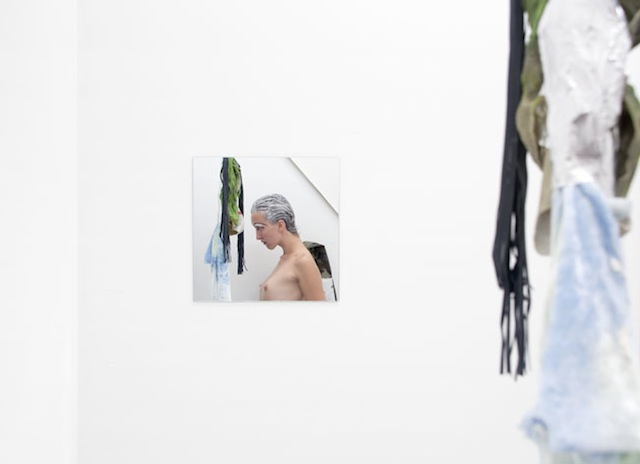 """Documentation of Donna Huanca's """"Scrying Threats"""" performance/installation at Queer Thoughts Gallery, Chicago (image courtesy of the artist and Queer Thoughts)"""