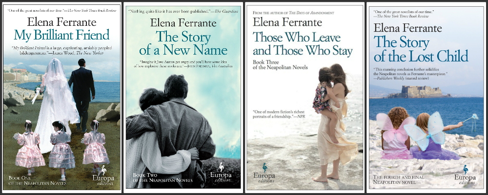 Elena Ferrante book covers, image via Amazon