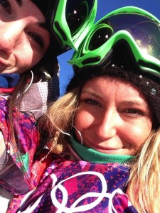 "Usie of U.S. Olympic snowboarder Jamie Anderson before she won gold. Image via Twitter. From her tweet: ""‏@Jme_Anderson Feb 6 Me and @KarlyShorr are going to be on the today show this afternoon… Then opening ceremonies! Oh snap!"""