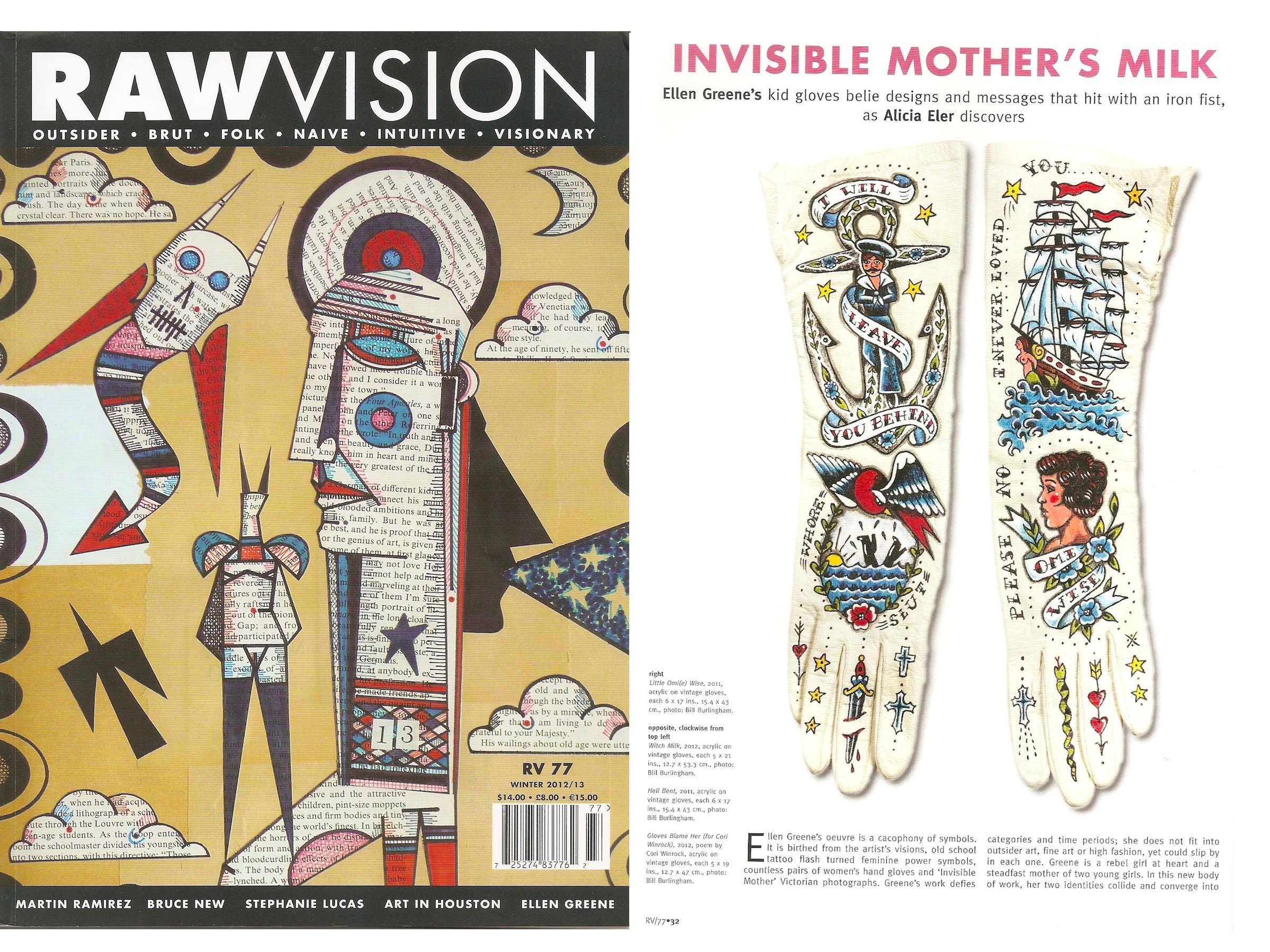 "raw vision magazine features eler s ""invisible mother s milk  filed"
