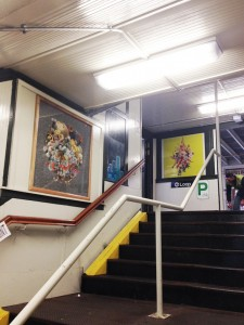 "Stephen Eichhorn's ""The Climb/Reality"" on view at the Damen Blue Line station (all images courtesy of Johalla Projects)"