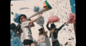 "Still from Taylor Swift's music video ""22."" This is not a group selfie BTW (screengrab via YouTube)"