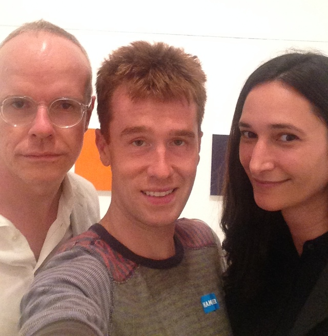 Instagram Mini-Marathon Curator Group Selfie with Hans Ulrich Obrist, Kevin McGarry, and Bettina Korek. (image courtesy ForYourArt; all other images by the author for Hyperallergic)