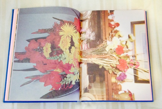 Flower centerfold from Sara Cwynar's 'The Kitsch Encyclopedia,' published by Blonde Art Books (all photos by the author for Hyperallergic)