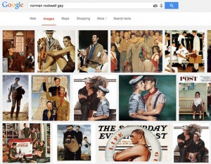 "Ever wonder what happens when you Google ""Norman Rockwell gay."" (screenshot by Hyperallergic)"