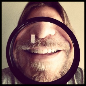 Enrico Varrasso's magnified selfie for Tumblr profile pic. All images submitted to selfies [at] hyperallergic [dot] com.