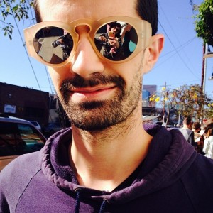 Sunglasses selfie with fellow Hyperallergic writer Ben Valentine (photo by the author for Hyperallergic)