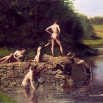 """Swimming Hole"" by Thomas Eakins (1889)"
